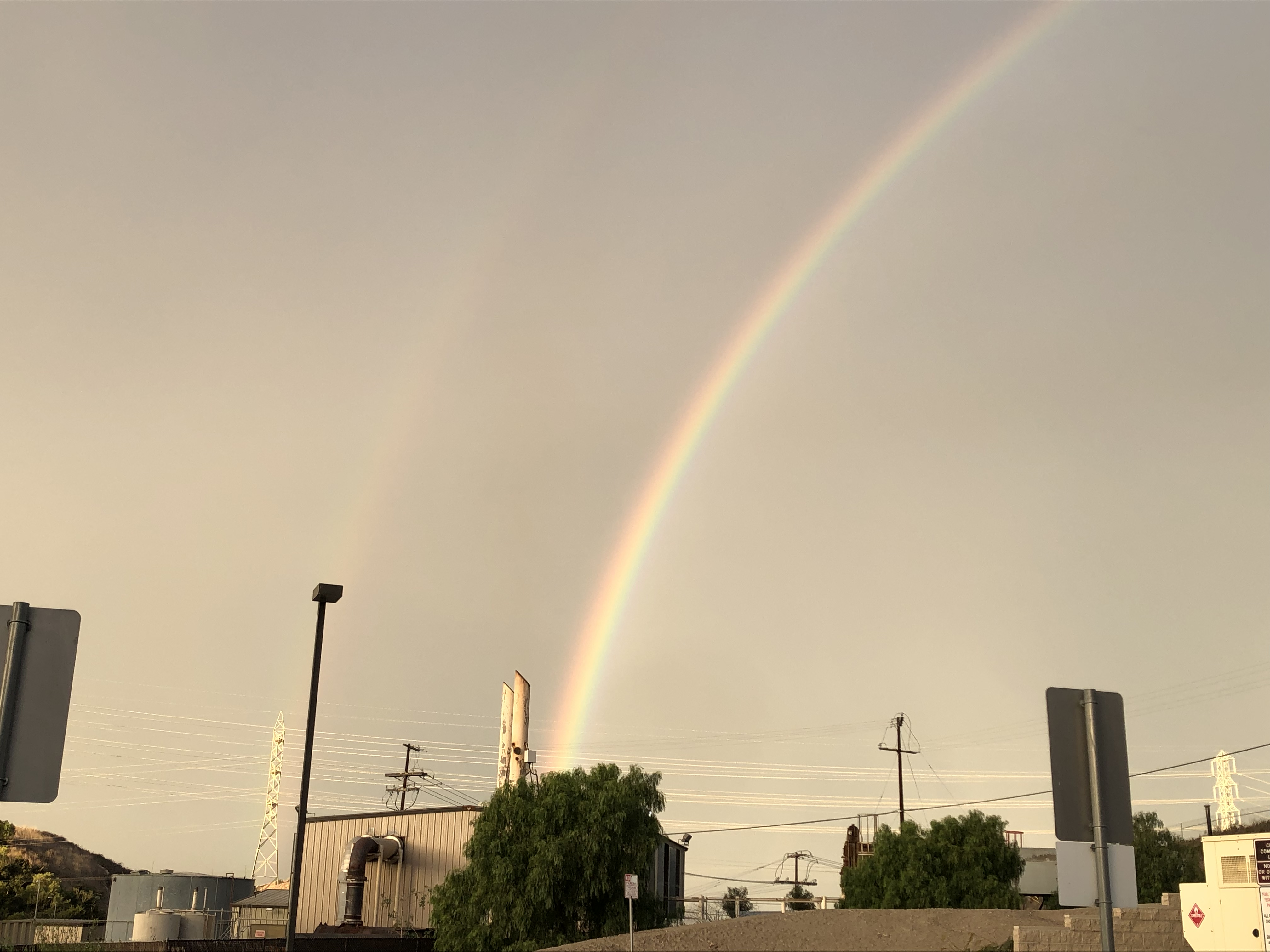 rainbow ends at the powerplant